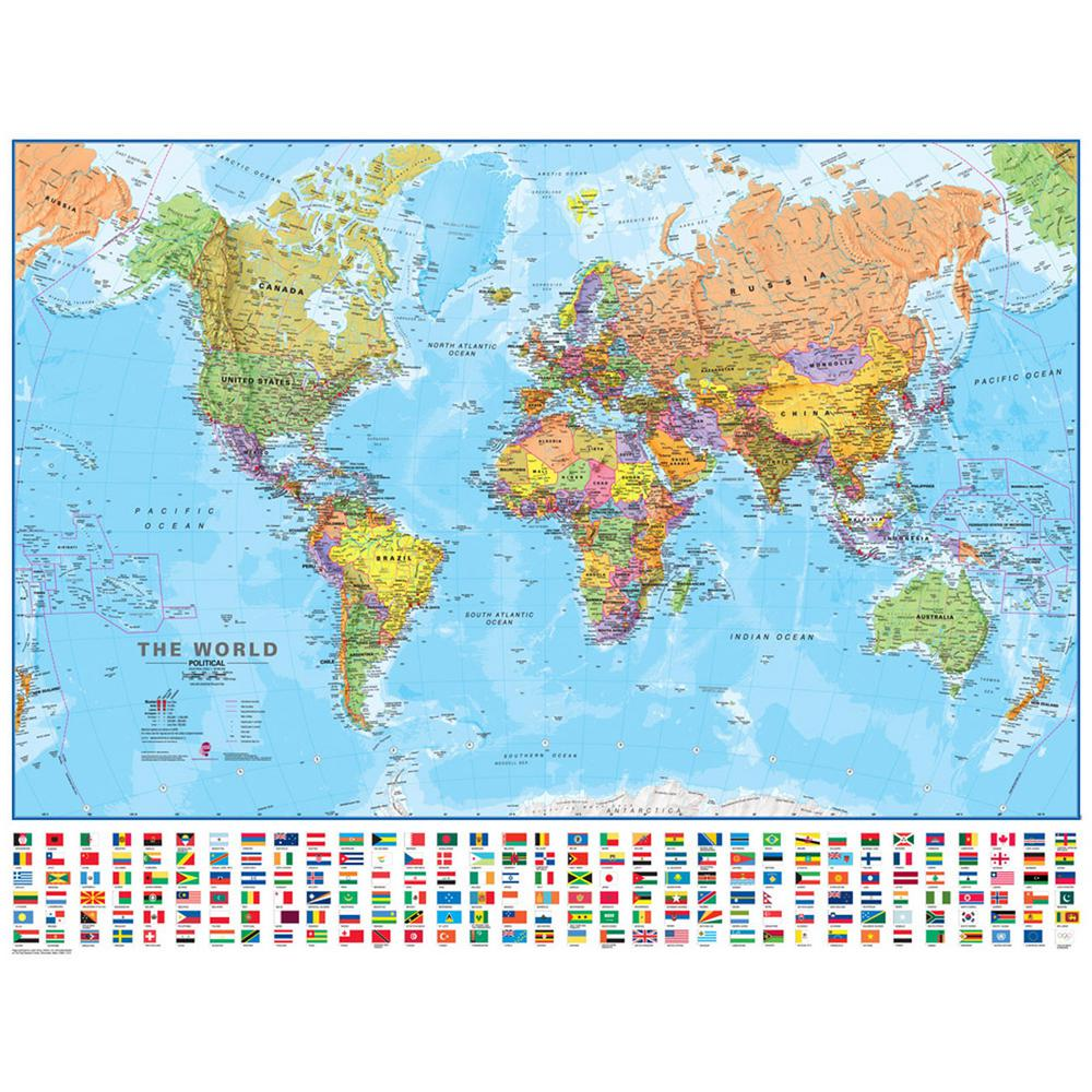 Waypoint geographic world 130 scale wall map wphdmilwld130 the waypoint geographic world 130 scale wall map gumiabroncs Gallery
