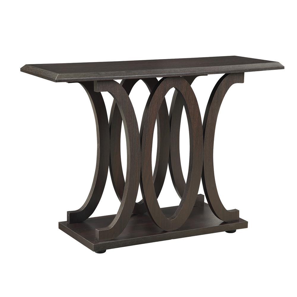 Coaster C Shaped Sofa Table Cuccino