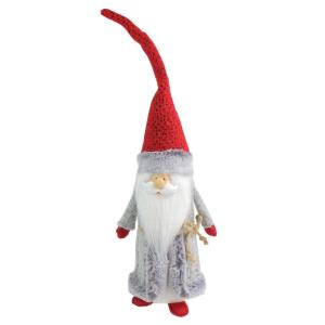 Northlight 33 In Large Woodland Gnome With Striped Pants Holding Christmas Tree 32752593 The Home Depot