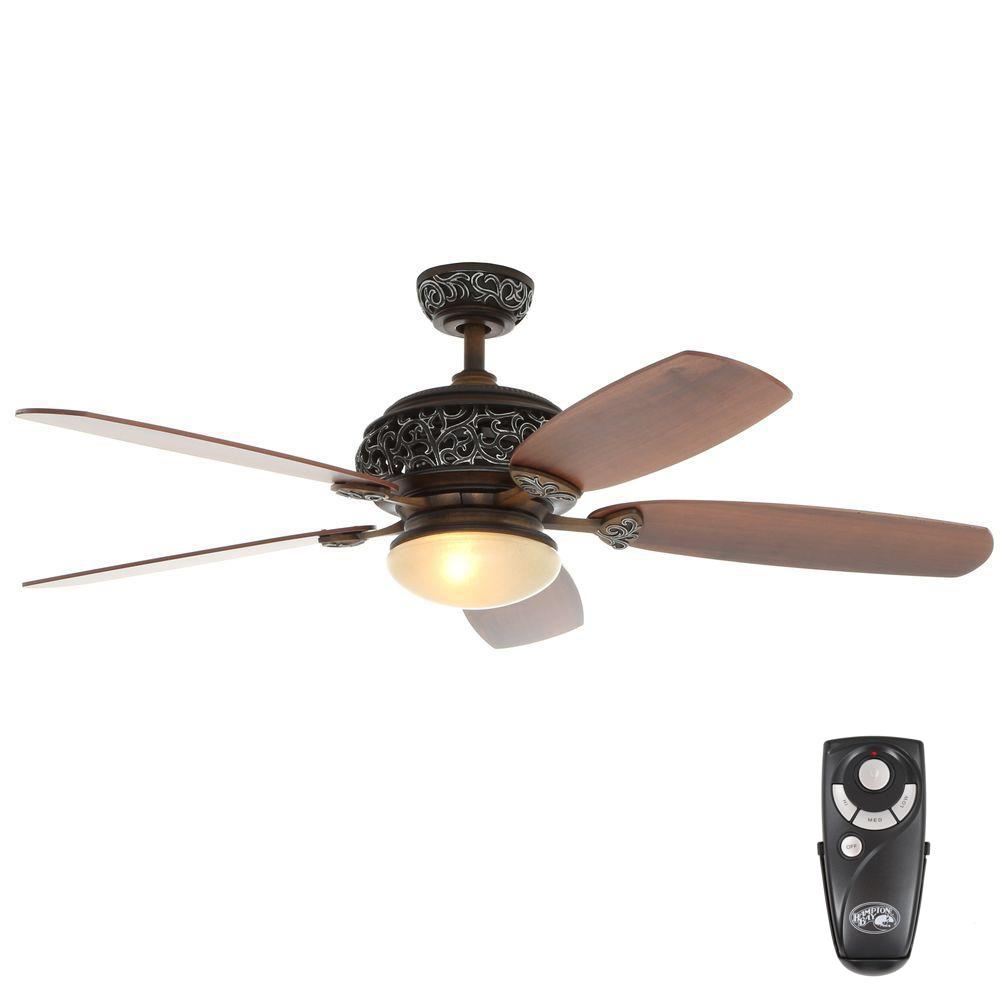 hampton bay downrod hampton bay 52 in indoor caffe patina ceiling fan with 1538