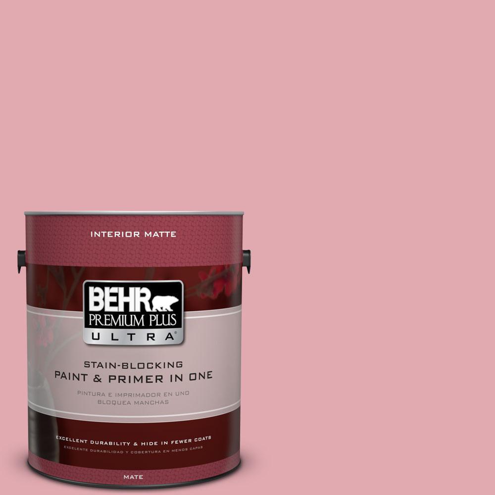 1 gal. #130C-3 Raspberry Lemonade Flat/Matte Interior Paint