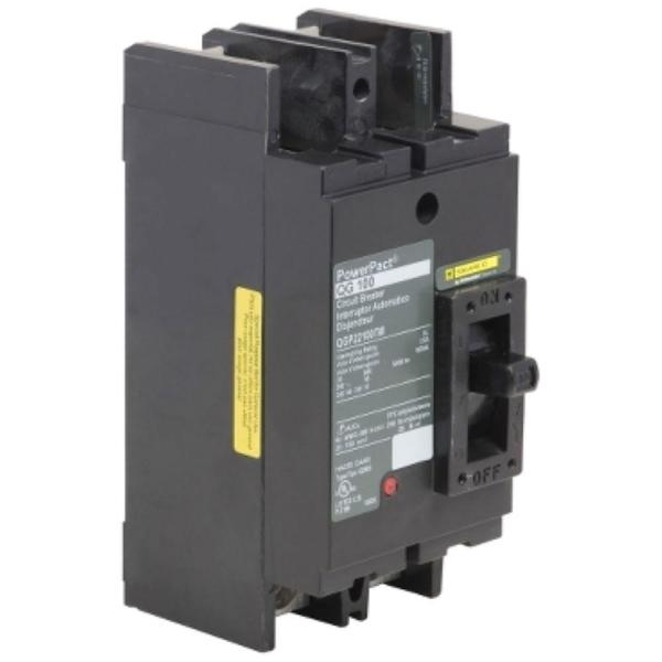 PowerPact 100 Amp 65kA  2-Pole Q-Frame Molded Case Circuit Breaker