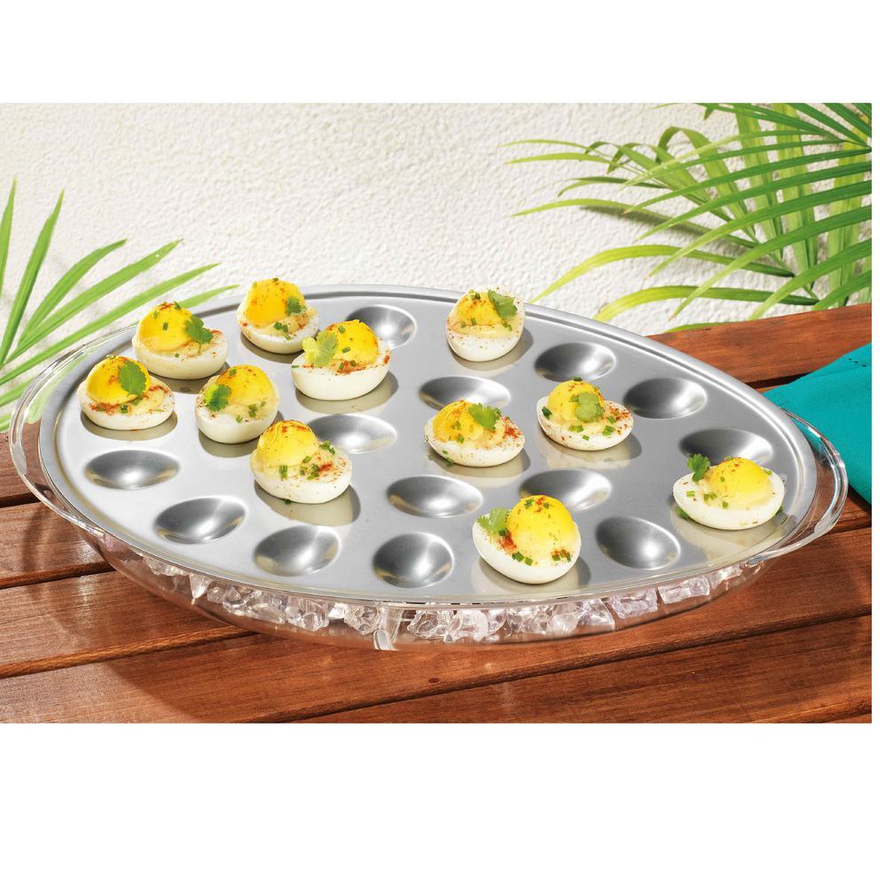 Del Sol Acrylic Iced Egg Tray