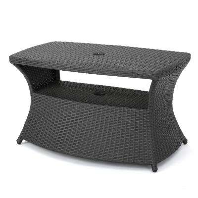 Umbrella Hole Outdoor Side Tables Patio Tables The Home Depot
