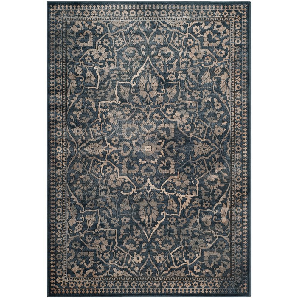 Safavieh Vintage Blue Light Gray 5 Ft X 8 Ft Area Rug Vtg175 7330