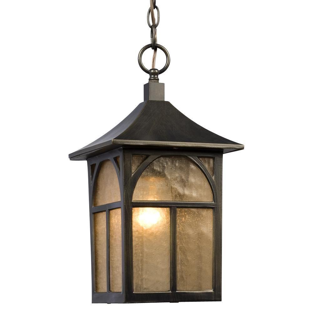 Filament Design Negron 1-Light Outdoor Oil Rubbed Bronze Hanging Lantern