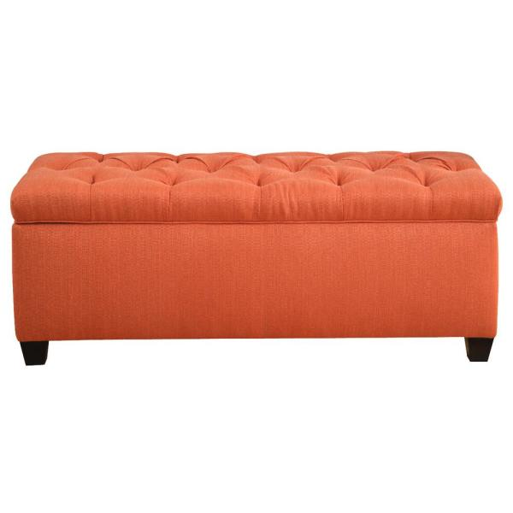 MJL Furniture Designs Sean Candice Pumpkin Diamond Tufted Large Storage Bench