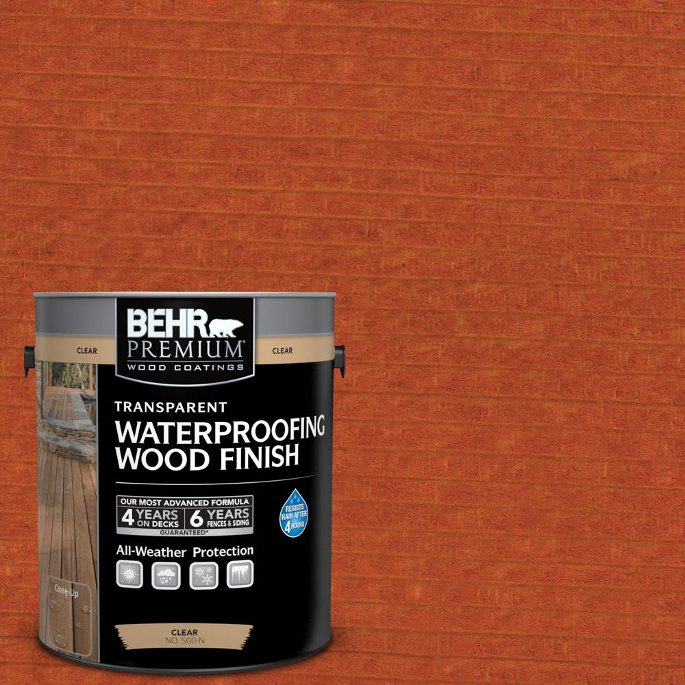 1 gal. #T-112 Barn Red Transparent Waterproofing Wood Finish