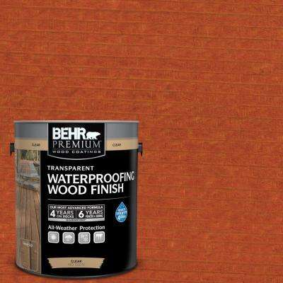 1 gal. #T-112 Barn Red Transparent Waterproofing Exterior Wood Finish