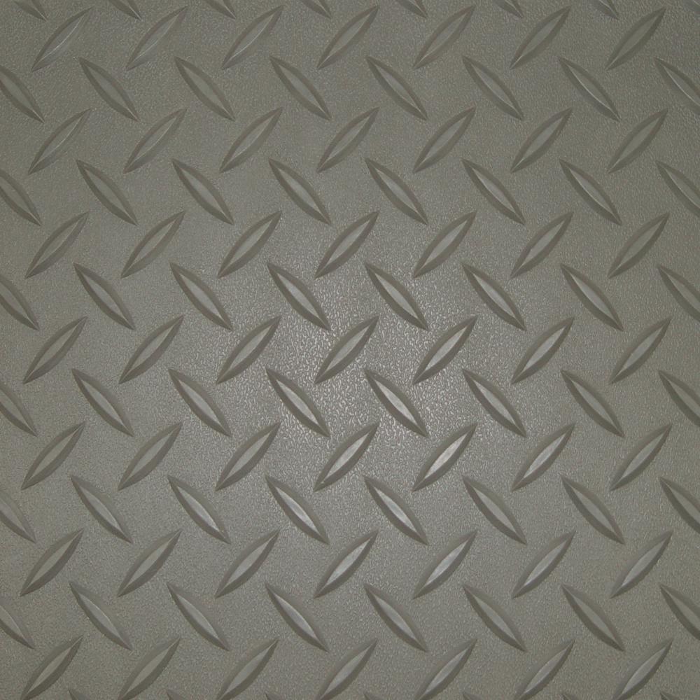 7.5 ft. x 17 ft. Pewter Textured PVC Standard Car Mat
