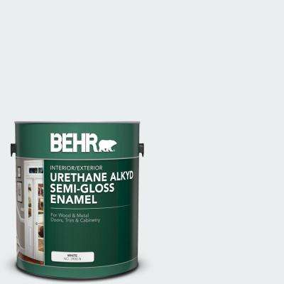 1 gal. #PWN-16 Day Spa Urethane Alkyd Semi-Gloss Enamel Interior/Exterior Paint