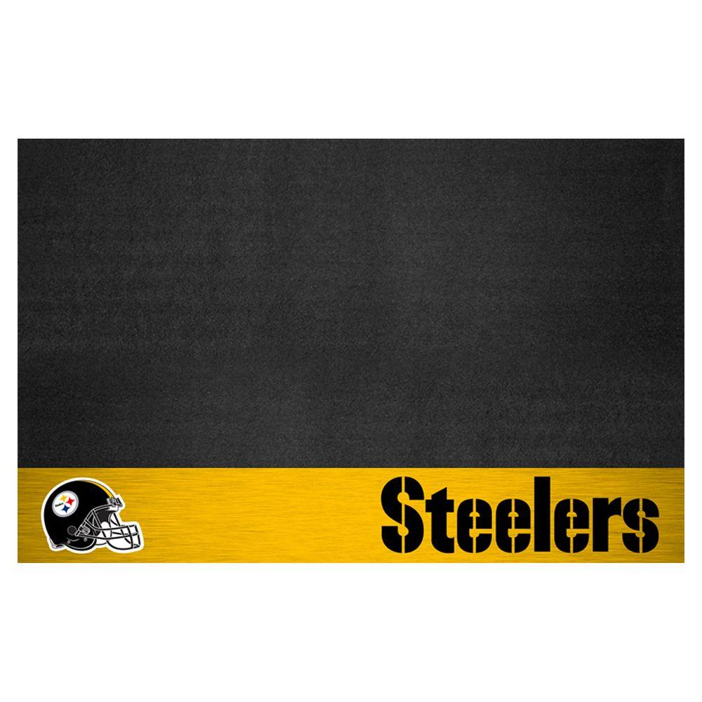 8c01e482ad1 FANMATS Pittsburgh Steelers 26 in. x 42 in. Grill Mat-12198 - The ...