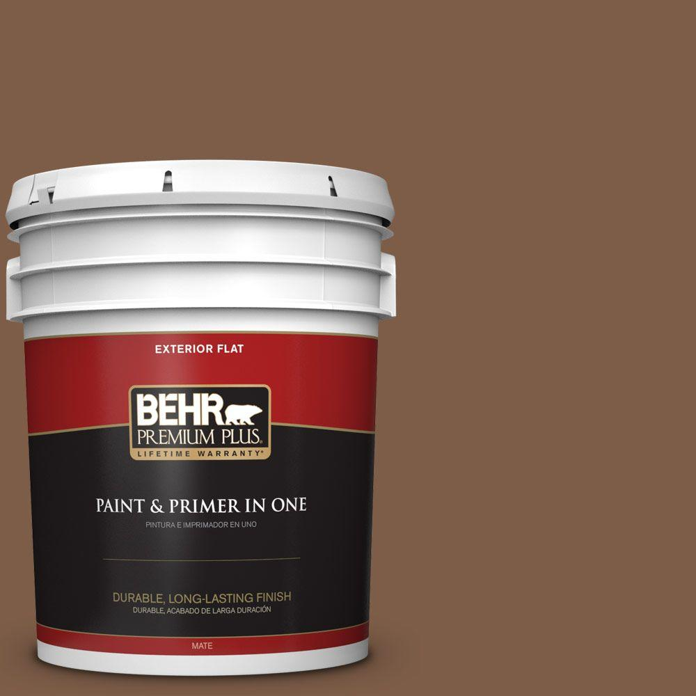 5-gal. #BXC-65 Outback Brown Flat Exterior Paint