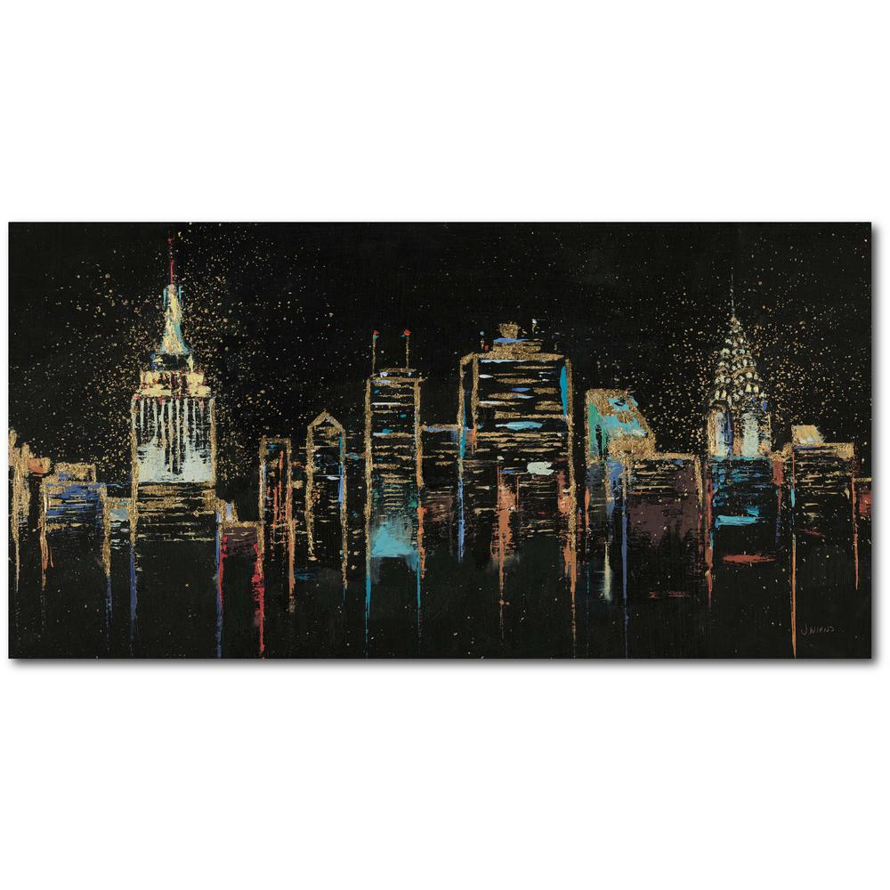 Courtside Market Cityscape 12 in. x 24 in. Gallery-Wrapped Canvas Wall Art, Multi Color was $70.0 now $38.93 (44.0% off)