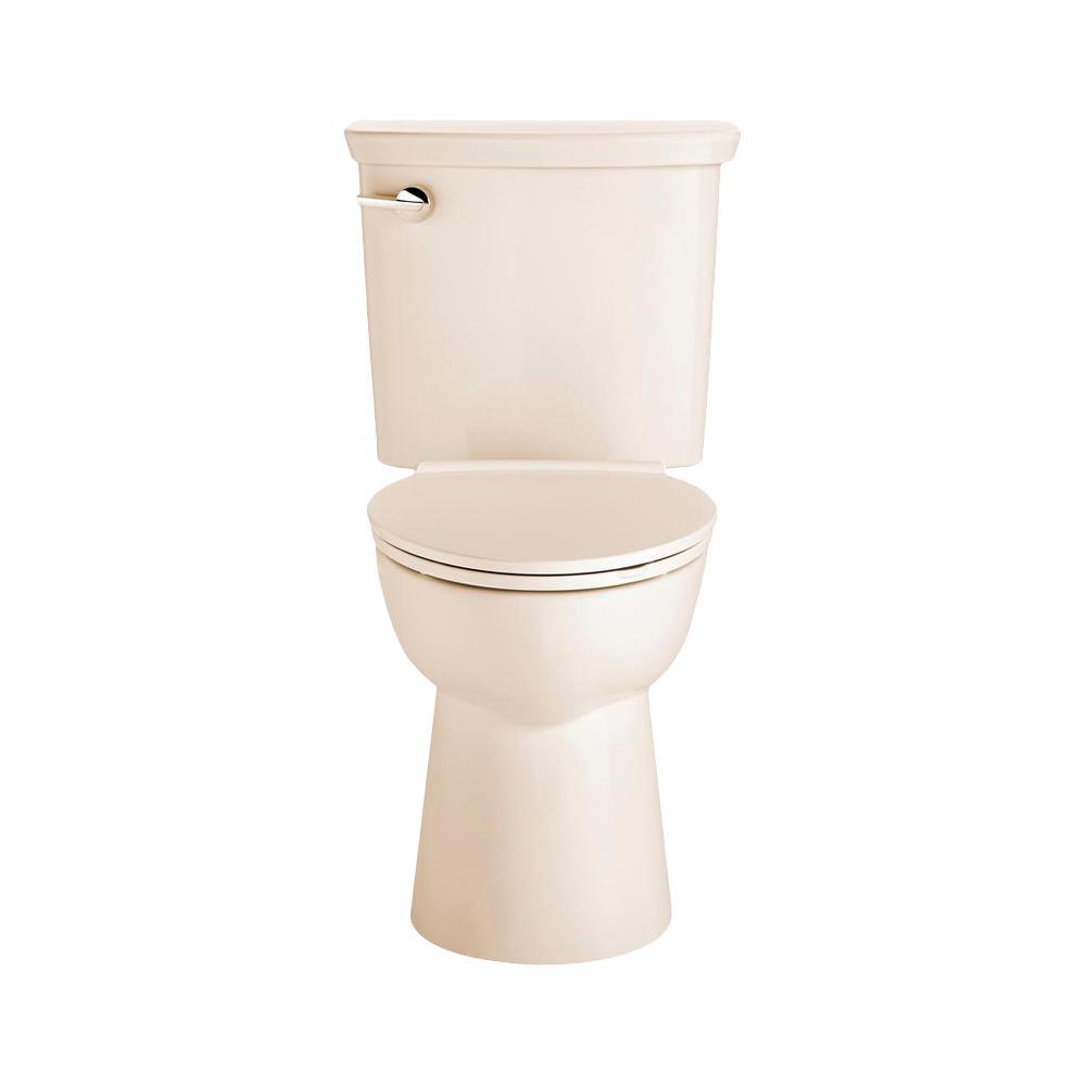 American Standard Vormax Tall Height 2-Piece 1.28 GPF Single Flush Elongated Toilet in Bone