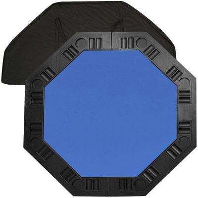 8 Player Octagonal 48 in. Blue Felt Table Top