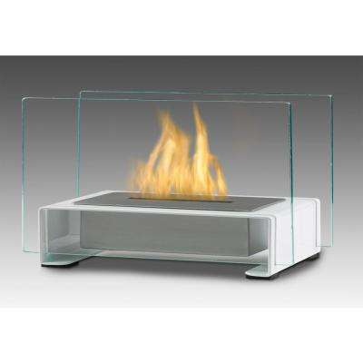 Toulouse 15 in. Ethanol Tabletop Fireplace in Gloss White