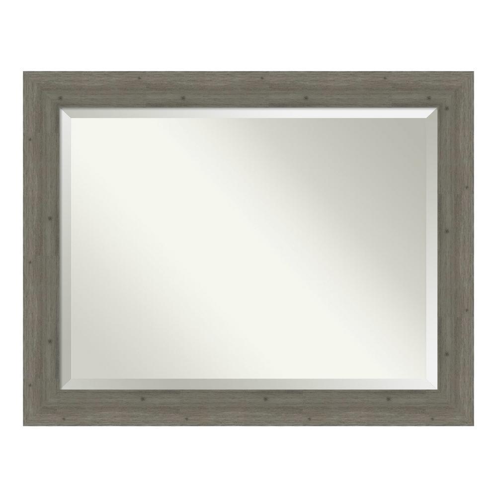 Amanti Art Fencepost Grey Decorative Wall Mirror was $442.0 now $259.89 (41.0% off)
