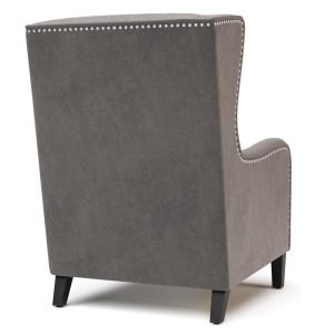 Fine Simpli Home Taylor 28 In Wide Traditional Wingback Chair In Machost Co Dining Chair Design Ideas Machostcouk