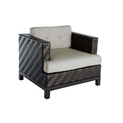 Rachel 1-Piece Wicker Patio Seating Set with Cast-Ash Cushions