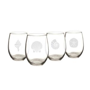Cathy's Concepts Seashell 21 oz. Stemless Wine Glasses by Cathy's Concepts