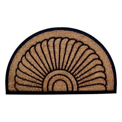 Rubber Backed, Sunrise, 36 in. x 24 in. Natural Brushed Coir Door Mat