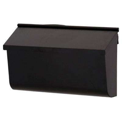 Woodlands Galvanized Steel Textured Black Wall-Mount Mailbox