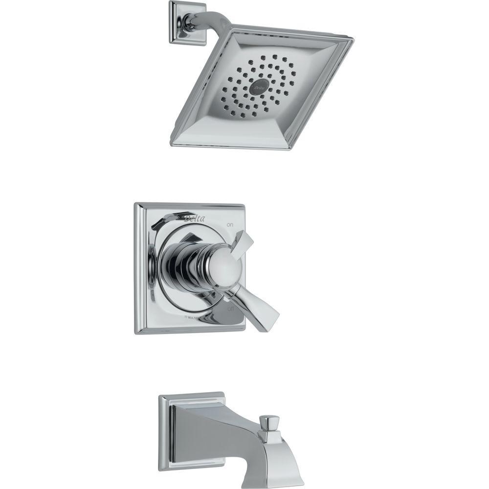 Delta Dryden Single-Handle 1-Spray Tub and Shower Faucet in Chrome ...