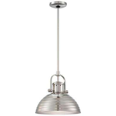 1-Light Polished Nickel Pendant