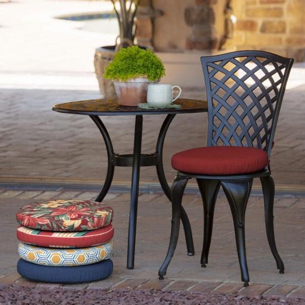 Arden Selections Ruby Leala Round Foam Outdoor Seat Cushion 2 Pack Tg06463b D9z2 The Home Depot