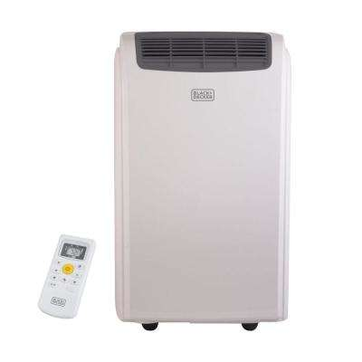 12,000 BTU Portable Air Conditioner with Dehumidifier and Remote Control in White