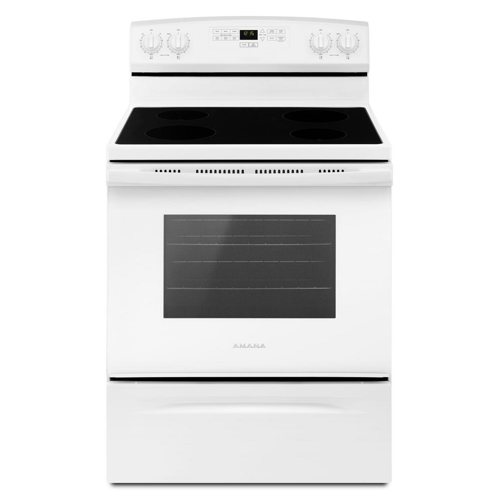 Amana 4.8 cu. ft. Electric Range in White