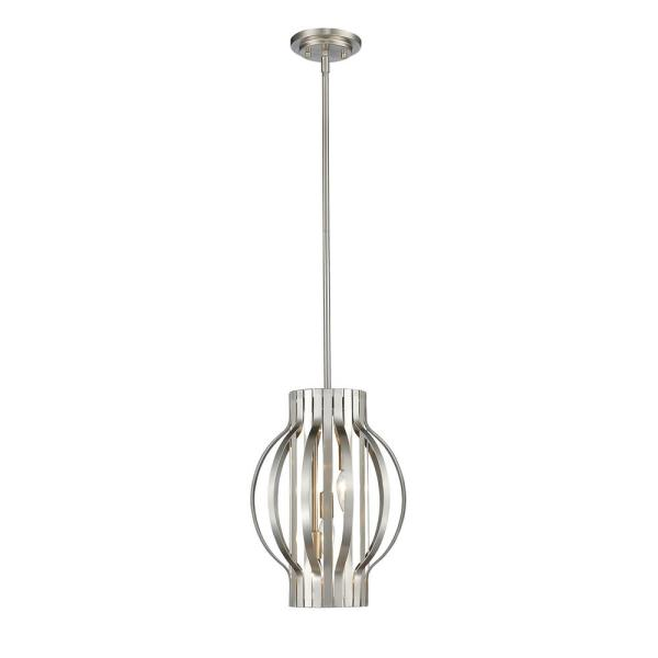 Oberon 3-Light Brushed Nickel Pendant