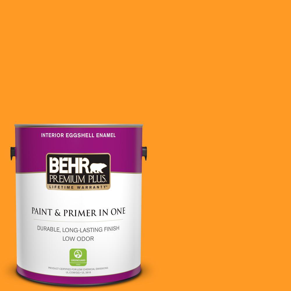 BEHR Premium Plus 1 gal  #75 Polar Bear Eggshell Enamel Low