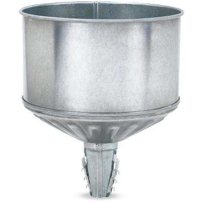 8 qt. Galvanized Tractor Funnel with Locking Tabs and Screen