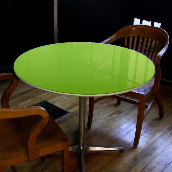 Fab Glass And Mirror 32 Inch Green Round Glass Table Top Back Painted 3 8 Thick Flat Edge Polished Tempered Cg 32rt10thfpte The Home Depot