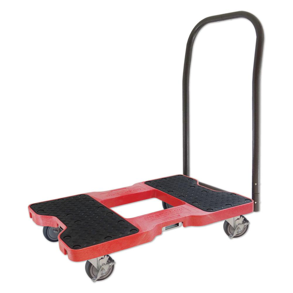 SNAP-LOC 1500 lb. Capacity Push Cart Dolly in Red