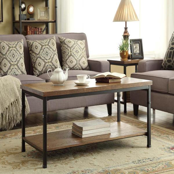 Coffee Table Decorations For Home: Linon Home Decor Austin Black Ash Coffee Table