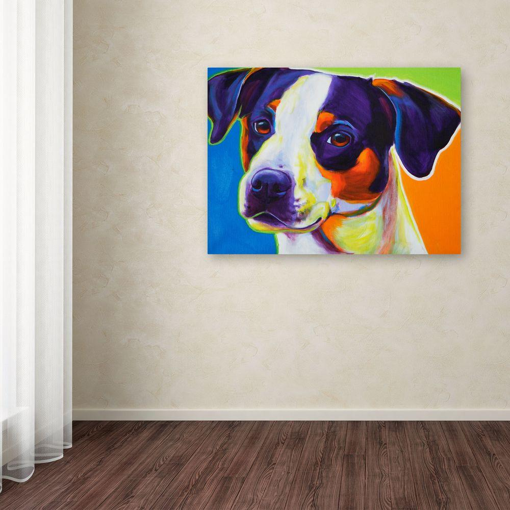 """35 in. x 47 in. """"Lady Baillee"""" by DawgArt Printed Canvas"""