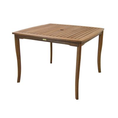 42 in. Square Wood Outdoor Dining Table