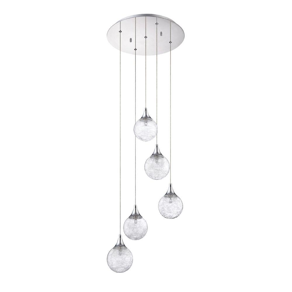 Designers Choice Collection Fybra Series 5 Light Chrome