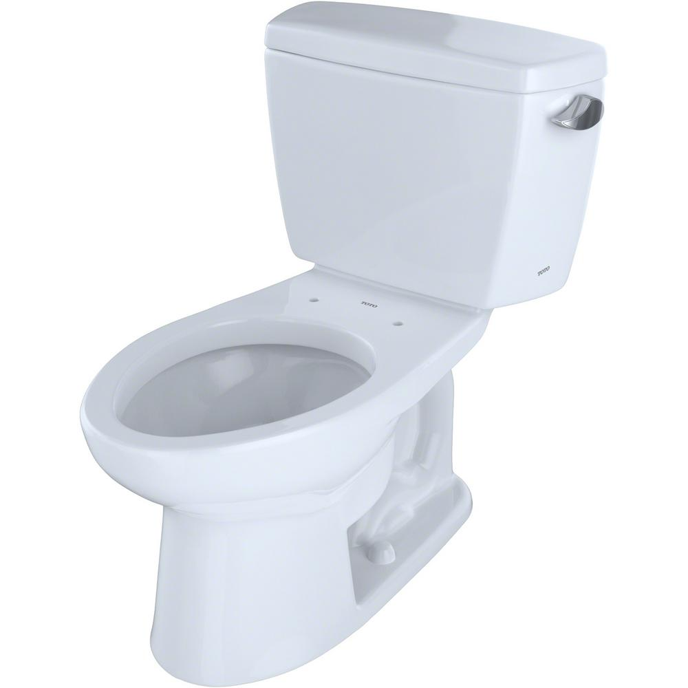 Admirable Toto Eco Drake Ada Compliant 2 Piece 1 28 Gpf Single Flush Elongated Toilet With Right Hand Trip Lever In Cotton White Lamtechconsult Wood Chair Design Ideas Lamtechconsultcom