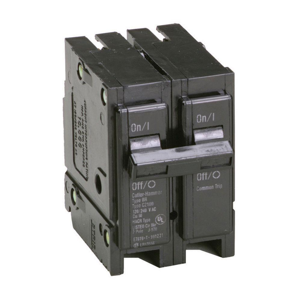 Eaton 50 Amp 2 in. Double-Pole Type BR Replacement Circuit Breaker