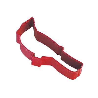 12-Piece 4.5 in. Cardinal Red Polyresin Finish Cookie Cutter & Recipe