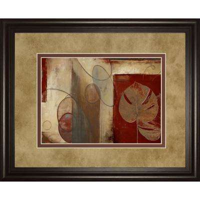 """34 in. x 40 in. """"Inspiration In Crimson"""" by Patricia Pinto Framed Printed Wall Art"""