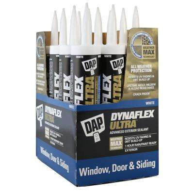 DYNAFLEX ULTRA 10.1 oz. White Advanced Exterior Window, Door, and Siding Sealant (12-Pack)