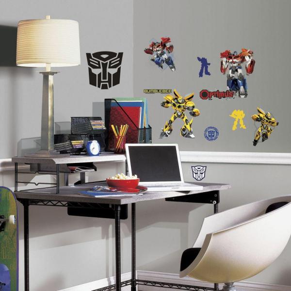 RoomMates 11.5 in. Multi Color Transformers Autobots Peel and Stick ...