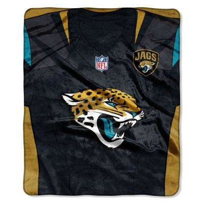 Jaguars Jersey Raschel Throw