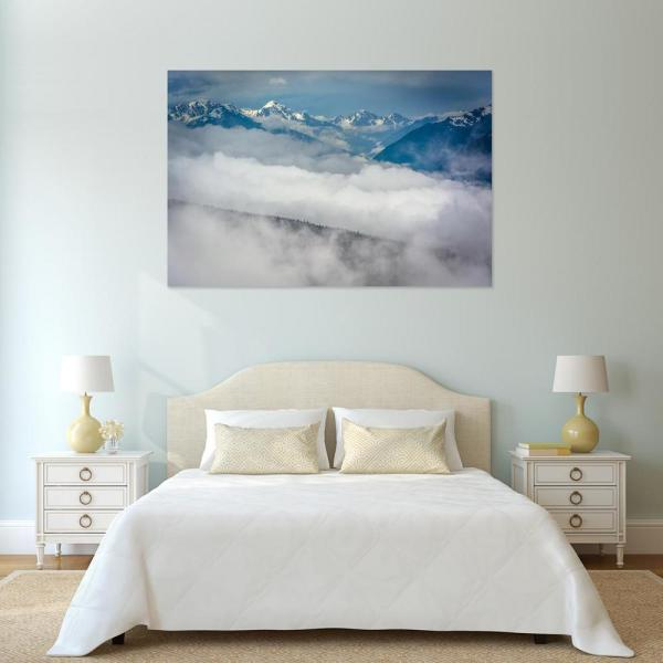 12 in. x 18 in. ''View of snowy mountains in Olympic