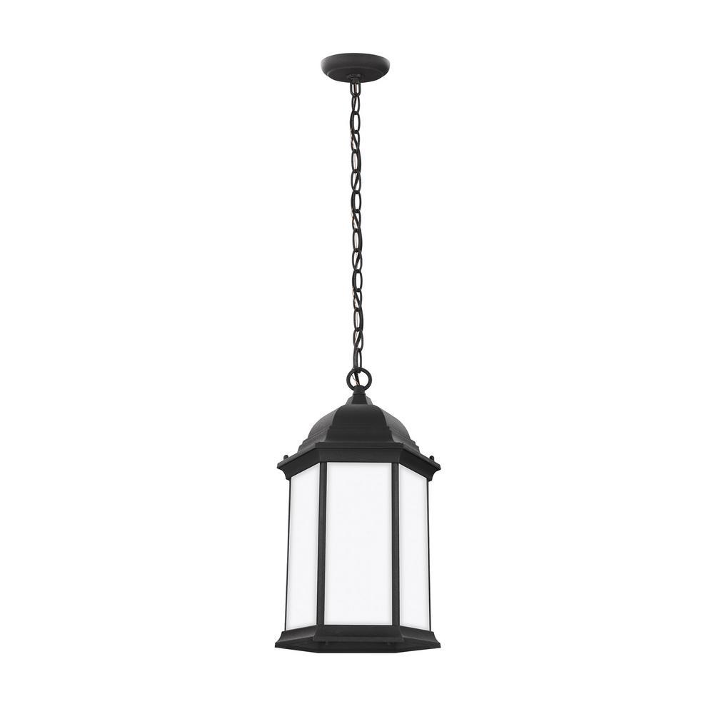 Sevier 1-Light Black Outdoor Pendant Light